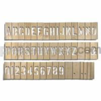 Stencil Set with Letters, Numbers & Punctuation (92 Piece)